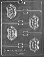 Fangs Lolly Halloween Chocolate Candy Mold