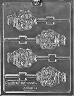 Skull Lolly Halloween Chocolate Candy Mold