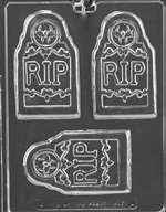 RIP Tombstone Bar Halloween Chocolate Candy Mold