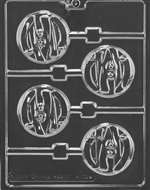 Mummy Face Lolly Halloween Chocolate Candy Mold