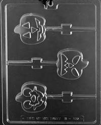 Pumpkin Face Lolly Candy Mold
