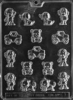 Kids Assortment Chocolate Candy Mold