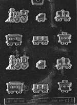 Sugar Train Chocolate Candy Mold