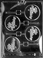 Happy B-Day Lolly Chocolate Candy Mold
