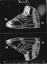 High Top Sneaker,Left Chocolate Candy Mold