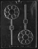 Round Disc Flower Lolly Chocolate Candy Mold