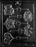 Diva Lollies Assortment Chocolate Candy Mold