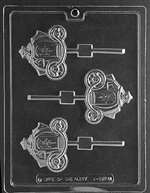 Pumpkin Coach Lolly Chocolate Candy Mold