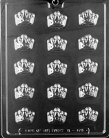 Crowns Chocolate Candy Mold with Exclusive Cybrtrayd Copyrighted Molding Instructions