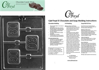 #80 Lolly Chocolate Candy Mold with Exclusive Cybrtrayd Copyrighted Molding Instructions