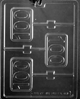 #100 Lolly Chocolate Candy Mold with Exclusive Cybrtrayd Copyrighted Molding Instructions