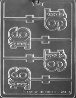 Sweet 16 in Number Lolly Chocolate Candy Mold