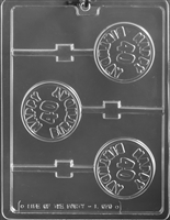 Happy 40th Birthday Lolly Chocolate Candy Mold