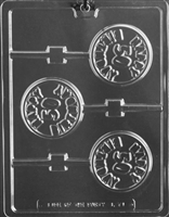 Happy 50th Birthday Lolly Chocolate Candy Mold