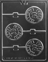 Happy 60th Birthday Lolly Chocolate Candy Mold