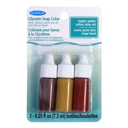 Life of the Party 3 Pack of Glycerin Soap Colorants - Copper,Butterscotch,Red 0.75 oz (53101)