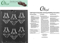 Bite Size Bikinis Chocolate Candy Mold with Exclusive Cybrtrayd Copyrighted Molding Instructions