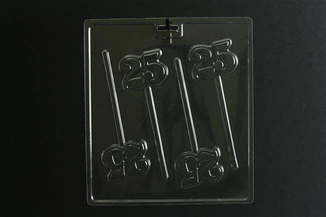 Number 25 Pop  Chocolate Candy Mold