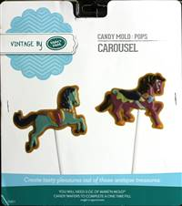 Carousel Pops  Chocolate Candy Mold with Cybrtrayd Copyrighted Molding Instructions