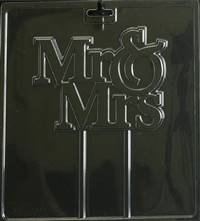 Mr. & Mrs. Cake Topper  Chocolate Candy Mold with Cybrtrayd Copyrighted Molding Instructions