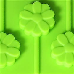 Hard Candy Mold - Flower Pop Silicone Mold