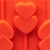 Hard Candy Mold - Heart Pop Silicone Mold