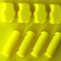 Hard Candy Mold Sweet Minis Silicone Chocolate Candy Mold with Cybrtrayd Copyrighted Molding Instructions