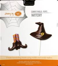 Witchy Pop  Chocolate Candy Mold with Cybrtrayd Copyrighted Molding Instructions