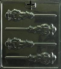 Scarecrow Pop  Chocolate Candy Mold with Cybrtrayd Copyrighted Molding Instructions
