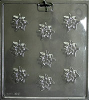 Pointsetta Minis Mold Christmas Flowers