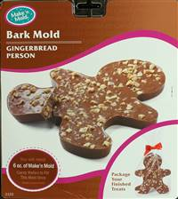 Christmas Gingerbread Man Bark Chocolate Candy Mold