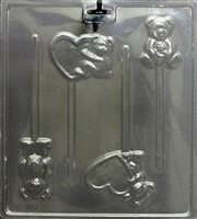 Bear and Heart Pops Mold Valentine's Day