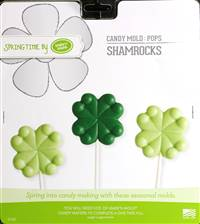 Shamrock Pops Chocolate Candy Mold with Cybrtrayd Copyrighted Molding Instructions