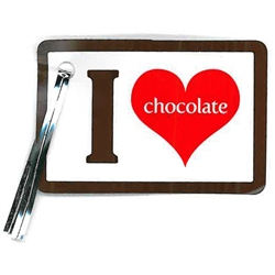 Pack of 20 I Heart Chocolate Lollipop Tags Candy Making Supplies