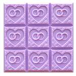 Wedding Weave Tray Soap Mold - Makes 3.5 oz Bars. Milky Way. Melt & Pour, Cold Process