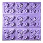 Fleur de Lis Soap Mold Tray - Makes 3.75 oz. Bars. Milky Way. Melt & Pour, Cold Process