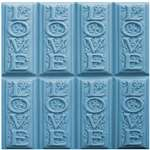 Love Soap Mold Tray - Makes 4.25 oz Bars. Milky Way. Melt & Pour, Cold Process