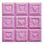 Crazy Hearts Soap Mold Tray - Makes 4 oz Bars. Milky Way. Melt & Pour, Cold Process