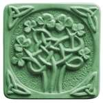Celtic Clover Soap Mold - Makes 4.75 oz Bars. Milky Way. Melt & Pour, Cold Process