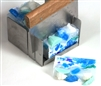 "Stainless Steel Soap Mitre Box Miter box w/2 Slots for 1"" & 2"" Cuts. 5"" x 4 3/4"" x 3"" High w/Lip. Includes Soap Cutter"