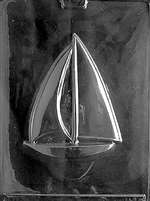 Large Sailboat Chocolate Candy Mold