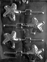 Starfish Lolly Chocolate Candy Mold with Exclusive Cybrtrayd Copyrighted Molding Instructions