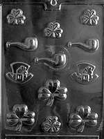 St. Patrick Assortment Chocolate Candy Mold