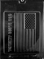 God Bless America Large Flag Chocolate Candy Mold