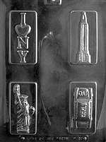 New York City Theme Box Set Chocolate Candy Mold