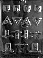 Assorted Purim Chocolate Candy Mold