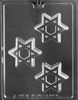 Jewish Star Mage3n David Cookie Chocolate Candy Mold