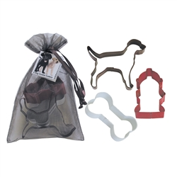Dog 3 Piece Colorful Cookie Cutter Set In Bag