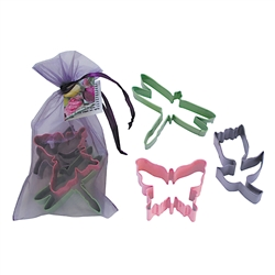 Spring 3 Piece Colorful Cookie Cutter Set In Bag