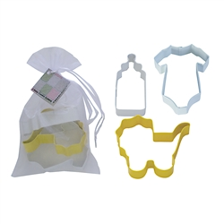 Baby 3 Piece Colorful Cookie Cutter Set In Bag